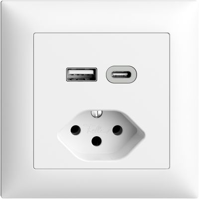 UP-Steckdose USB Typ A+C + T13